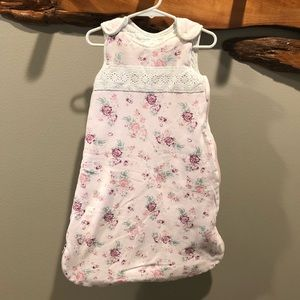 d11e2a4012f Piper   Posie baby sleep sack w  roses - 0-6 month